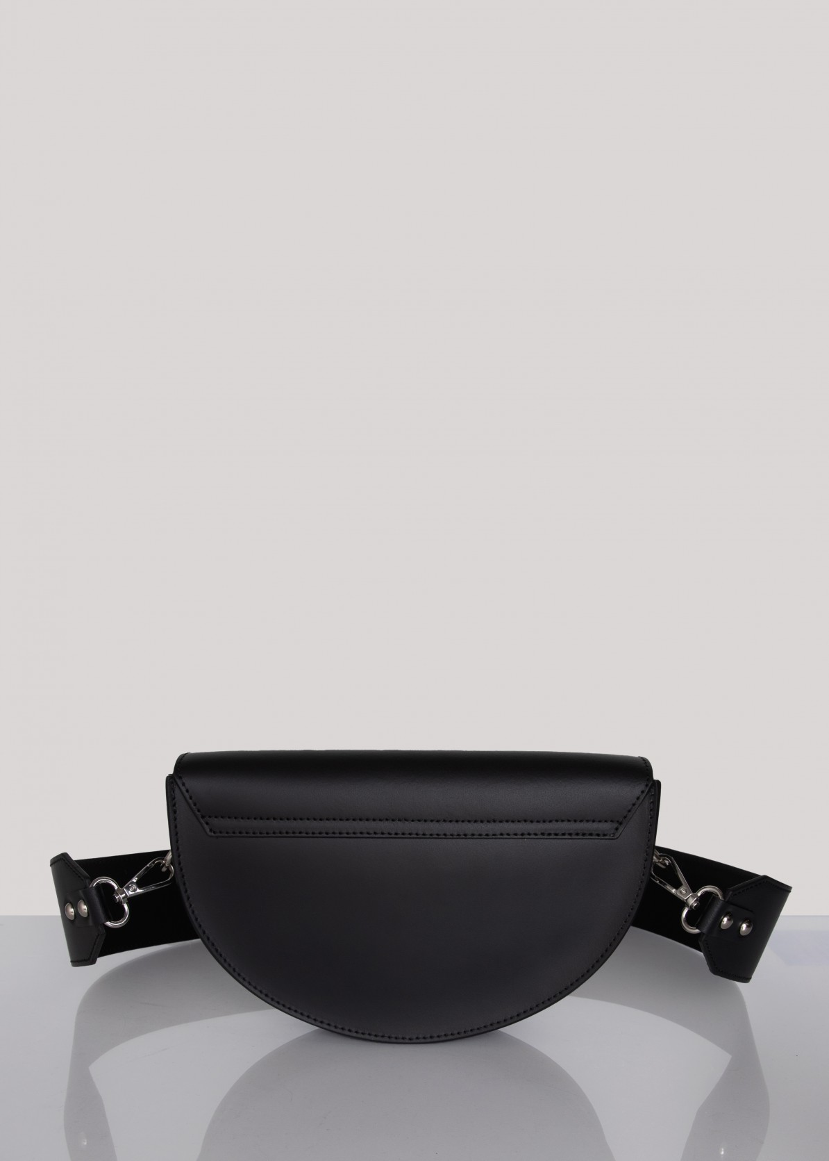 Moon saddle bag classic silver touch